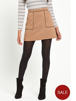 miss-selfridge-miss-selfridge-petite-camel-ponte-piped-detail-aline-skirt