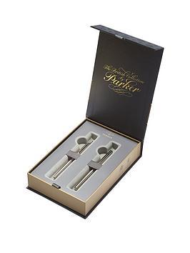 parker-parker-jotter-stainless-steel-fountain-pen-amp-ball-pen-gift-set