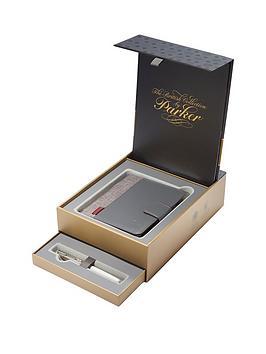 parker-sonnet-18ct-fountain-pen-amp-premium-notebook-in-premium-gift-box