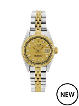 rolex-bimetal-datejust-original-champagne-diamond-26mm-dial-ladies-watch-pre-owned