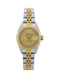 rolex-bimetal-datejust-champagne-pinstripe-26mm-dial-ladies-watchnbsppre-owned-including-paperwork
