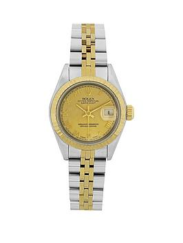 rolex-bimetal-datejust-champagne-roman-numeral-26mm-dial-ladies-watch-pre-owned-including-paperwork