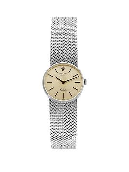 rolex-cellini-silver-25mm-dialnbspintegral-bracelet-ladies-watch-pre-owned