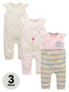 ladybird-baby-girls-3-pk-rompers
