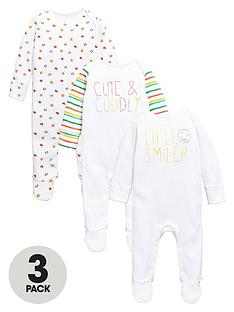 ladybird-baby-unisex-bright-sleepsuits-3-pack