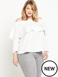 ri-plus-frill-bardot-top-white