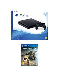 playstation-4-slim-500gb-black-console-with-titanfall-2-plus-optional-extra-controller-andor-12-months-playstation-plus