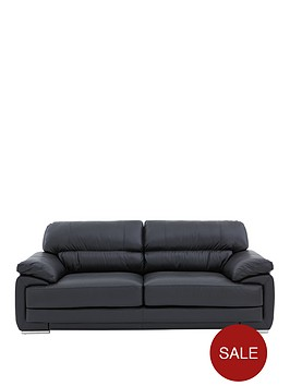 rosennbspleatherfaux-leather-3-seater-sofa