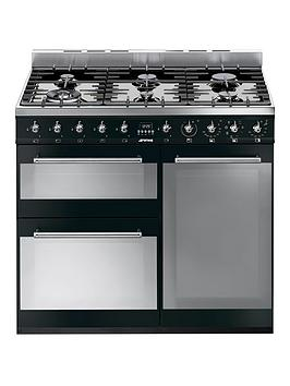 smeg-sy93bl-90cmnbspdual-fuel-3-cavity-range-cooker-with-gas-hob