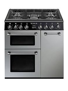smeg-bu93s-90cmnbspdual-fuel-3-cavity-cooker-with-gas-hob