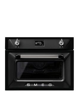 smeg-sf4920mcn-45cmnbspbuilt-in-compact-combination-microwave-oven-black