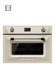 smeg-sf4920vcp-victoria-45cm-built-in-compact-steam-combination-oven-cream