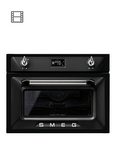 smeg-sf4920vcn-45cm-built-in-compact-steam-combination-oven