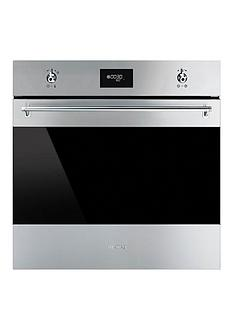 smeg-sf6371x-60cm-built-in-classic-single-electric-fan-oven-with-grill-stainless-steel