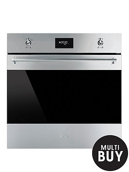smeg-sf6371x-60cm-built-in-classic-single-electric-fan-oven-with-grill