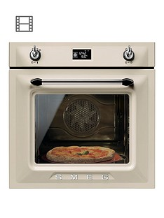 smeg-sf6922ppze-victoria-60cm-built-in-single-electric-oven-cream