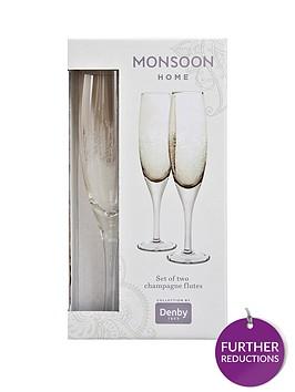 denby-monsoon-lucille-gold-champagne-flutes