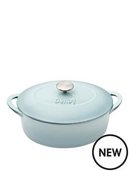 denby-denby-pavilion-cast-iron-28cm-oval-casserole
