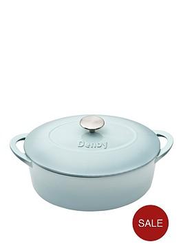 denby-pavilion-28cm-cast-iron-oval-casserole-dish