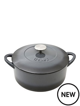 denby-denby-halo-cast-iron-24cm-round-casserole