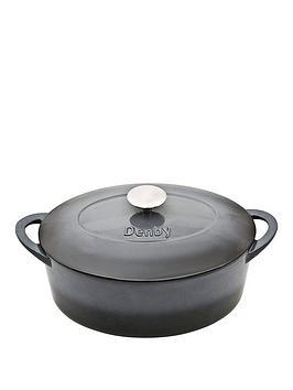 denby-halo-28cm-cast-iron-oval-casserole-pot