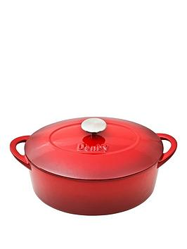 denby-pomegranate-28cm-cast-iron-oval-casserole-pot