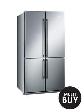 smeg-fq60xp-american-style-4-door-no-frost-fridge-freezer-stainless-steel