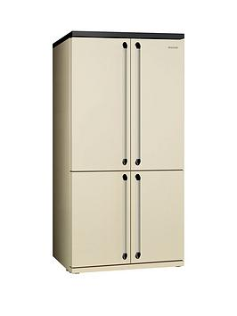 smeg-fq960p-american-style-4-door-no-frost-fridge-freezer-cream
