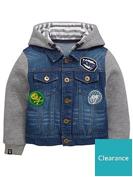 mini-v-by-very-boys-badged-jersey-sleeve-denim-jacket
