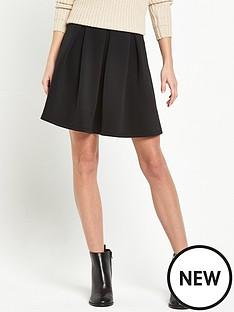miss-selfridge-miss-selfridge-black-scuba-skater-skirt