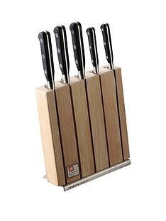 richardson-sheffield-sheffield-sabatier-trompette-5-piece-knife-block-set-with-3-in-1-knife-sharpener