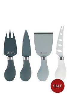 richardson-sheffield-love-colour-mono-4-piece-cheese-knife-set