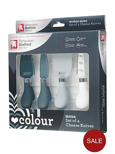 richardson-sheffield-love-colour-mono-4-piece-cheese-knife-set-with-amour-chopping-board