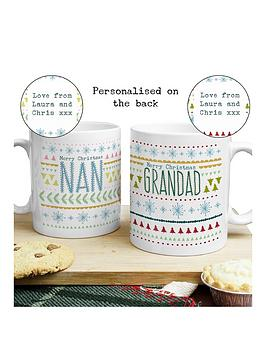 personalised-nan-amp-grandad-christmas-mug-set