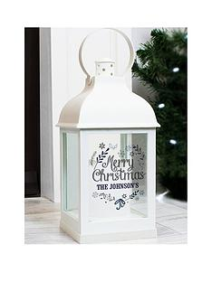 personalised-black-christmas-lantern