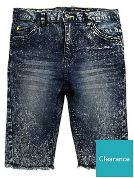 v-by-very-boys-marble-wash-raw-hem-denim-shorts