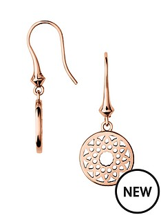 links-of-london-links-of-london-sterling-silver-rose-gold-plate-timeless-drop-earring