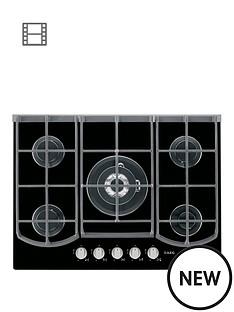 aeg-hg753430nb-five-burner-74cm-wide-gas-hob-black