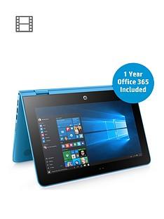 hp-hp-stream-x360-11-aa000na-intel-celeron-2gbnbsp-32gb-storage-116in-laptopnbspincludes-microsoft-office-365-personal-aqua-blue