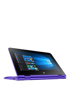 hp-pstream-x360nbsp11-aa001na-intelreg-celeronreg-2gbnbspram-32gbnbspstorage-116-inch-touch-screen-laptop-with-office-365-personal-and-1tbnbspcloud-storage-purplep