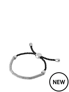 links-of-london-links-of-london-sterling-silver-effervescence-xs-grey-cord-bracelet