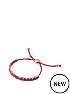 links-of-london-links-of-london-sterling-silver-18kt-rose-gold-plated-fuchsia-mini-friendship-cord-bracelet