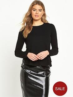 vero-moda-annika-ruffle-jumper-black