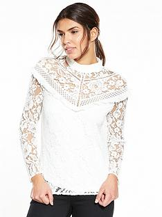 v-by-very-high-neck-lace-ruffle-detail-top
