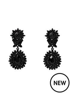 river-island-river-island-black-spike-door-knocker-earrings