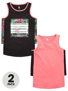 v-by-very-girls-side-panel-vests-2-pack