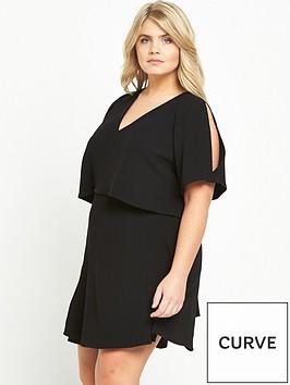 ri-plus-frill-tea-dress-black