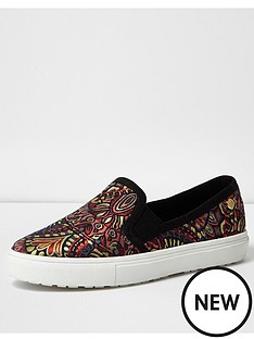 river-island-jaquard-print-slip-on