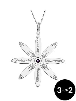 love-silver-personalised-sterling-silver-cz-set-family-daisy-pendant