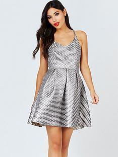 girls-on-film-girls-on-film-metallic-spot-jacquard-fit-and-flare-dress